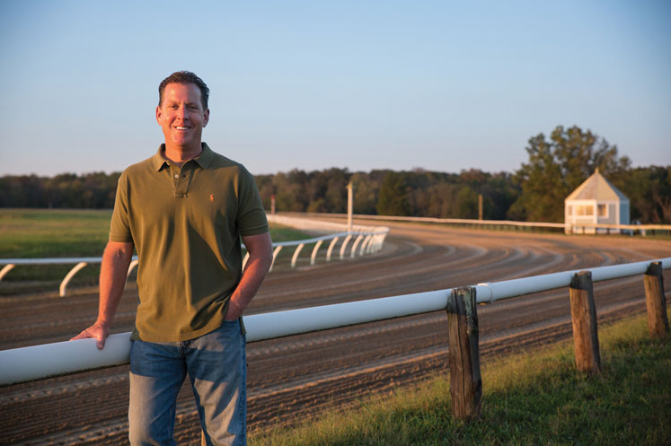 Chuck at Middleburg Track